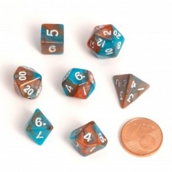 Mini RPG 7-Dice Set (Orange...