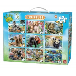 Puzzle King - 9in1 Animal...