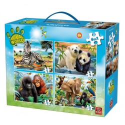 Puzzle King - 4in1 Animal...
