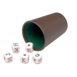 Poker Dice with Cup (Casino...